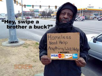 Screw Magazine - panhandling swipe a brother a buck